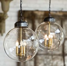Reproduction antique pendant lights add charm, intimacy and ambiance. Use dimmers to control their task versus ambient effects.