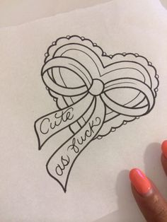 cute as fuck Tattoo Outline Drawing, Doodle Tattoo, Outline Drawings, Tattoo Drawings, Art Drawings, Dope Tattoos, Baby Tattoos, Girly Tattoos, Heart Tattoos