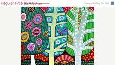 30 Sale Ending  Landscape Art  TREE LANDSCAPE by HeatherGallerArt, $16.80