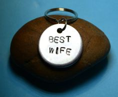 Wife gift,Keyring/necklace, Gift for wife, Christmas gifts, Gift for her, Jewelry, Personalized gift, Handstamped keyrings, Gifts for women