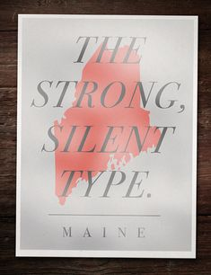 I actually really love this poster - #Maine