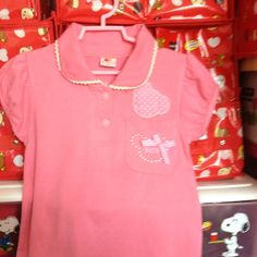 Pinky Top with Collar 4-5 yrs S$12.90