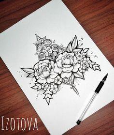 "3,472 Likes, 8 Comments - Идеи татуировок (@tattoopins) on Instagram: ""Отличные цветы от @jherellejaytattoo """