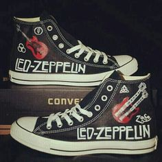b747d98fa44c Love these Led Zeppelin Chuck Taylor s!!! WHO KNEW! My daughter Loves her. Converse  ShoesConverse All StarConverse ...