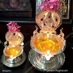Janani's altar decor, with lamps, for Karthigai festival. Gold Mangalsutra Designs, Gold Earrings Designs, Altar Decorations, Diwali Decorations, Silver Jewellery Indian, Silver Jewelry, Silver Ring, 925 Silver, Silver Earrings