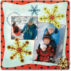 Wow, like this bright, happy winter layout!