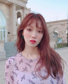 Lee Sung-kyung Encourages People to Watch 'About Time' Lee Sung Kyung Hair, Lee Sung Kyung Photoshoot, Korean Actresses, Korean Actors, Actors & Actresses, Weightlifting Fairy Kim Bok Joo, Joo Hyuk, Mid Length Hair, Asian Hair