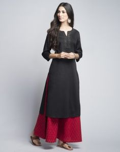 Cotton Satin Mukaish Long Kurta
