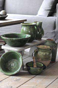 groen aardewerk Frankrijk