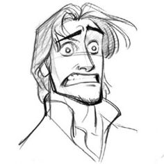 Flynn Rider concept by Glen Keane • Art of Walt Disney Animation Studios © ★ || Website | (www.disneyanimation.com) • Please support the artists and studios featured here by buying their works from their official online store (www.disneystore.com) • Find more artists at www.facebook.com/CharacterDesignReferences and www.pinterest.com/characterdesigh || ★