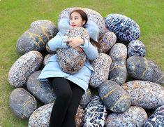 Large Pretty Cobblestone Living Stones Shape Pillow/Cushion Push Soft Toy New Funny Pillows, Kids Pillows, Xmas Gif, Push Toys, Bolster Cushions, Wool Pillows, Chongqing, Cute Plush, Toys Photography