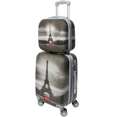 World Traveler Destination Collection Paris Grey Polycarbonate Two-piece Carry-on Hardside Spinner Luggage Set | Overstock.com Shopping - The Best Deals on Two-piece Sets