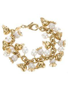 skull & pearl bracelet, alexander mcqueen. @Kimberly Giese Dyste