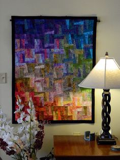 Go With the Flow a Quilted Wall Hanging by Quiltsbysuewaldrep, $275.00