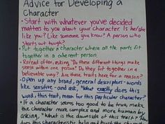 Narrative Writing: Advice for Developing a Character