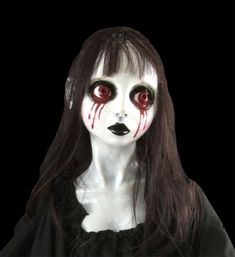 Gothic Prop BLOODY MARY GHOST SPIRIT DOLL Hung Corpse Bride Halloween Decoration