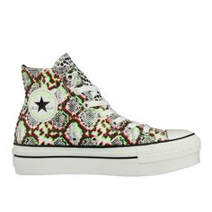 Converse Chuck Taylor All Star High Double Vulcanic Snake - Femme Chaussures Foot Locker, Black White Pink, Pink And Green, Converse Sneakers, High Top Sneakers, Baskets Converse, Green Trainers, Streetwear, Sneakers