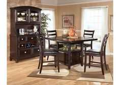 Ridgley Square Counter Extension Table 4 Stools Dining Room