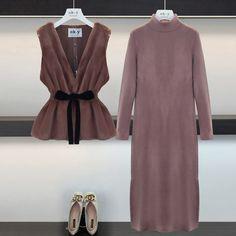 Muslim Fashion, Hijab Fashion, Fashion Dresses, Ulzzang Fashion, Korean Fashion, Long Skirt Fashion, Fashion Design Drawings, Fashion Couple, Fashion Project