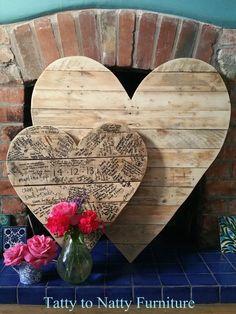 LARGE WEDDING MESSAGE PLAQUE/BOARD alternative GUEST book Heart WOODEN rustic