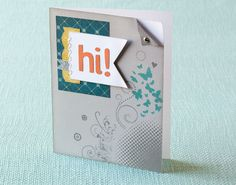 How to create a cluster of stamped images on any piece of artwork for a cute and coordinated design. #CTMH