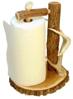 Hunting Crafts, Antler Crafts, Paper Towel Holder, Deer Antlers, Elk, Natural Wood, Bones, Woodworking, Delivery