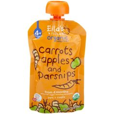 Ella's Kitchen Organic Baby Food Carrots, Apples and Parsnips... (115 SEK) ❤ liked on Polyvore featuring baby food, baby, food and comidas