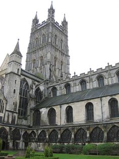 Gloucester Cathedral. I would like visiting this place (mostly because scenes from the first two Harry Potter movies were filmed here).