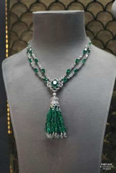 Emerald and Diamond Tassel Necklace by Graff
