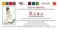 """Cartel presentacíon de """"Zara"""" Poemario de Emiliano Martinez. Presentación en vivo mediante videoconferencia con el autor desde Uruguay."""