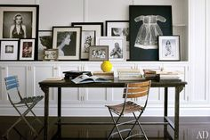 In the family room, portraits of Shields alone and with her children, including images by Robert Mapplethorpe and Annie Leibovitz, are propped alongside works by Richard Avedon, Adam Fuss, and others   archdigest.com