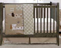 Crib Set | Dachshund in Gender Neutral Colors