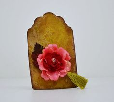 Items similar to Distressed Tag, Gift Tag, Scrapbook Embellishment, Tag with Prima Flower on Etsy Selling On Pinterest, Scrapbook Embellishments, Christmas Tag, Distress Ink, Gift Tags, Greeting Cards, Etsy Shop, Unique Jewelry, Mists