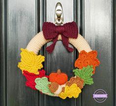 Mornings of Autumn Crochet Wreath