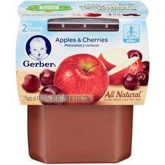 Gerber 2nd Foods Apples & Cherries Baby Food, 4 oz, 2 count (Pack of 8)