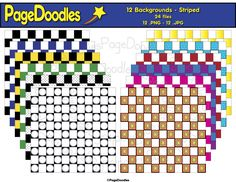 PageDoodles.com_Backgrounds_Checkered