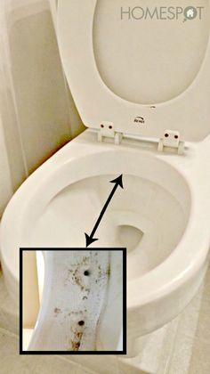 To get that weird mold that grows under the rim of your toilet, use vinegar and duct tape