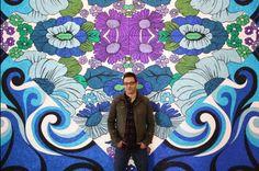 The Bricoleur: Glitter Paintings by Reuben Paterson Glitter Kunst, Glitter Art, Artist Painting, Artist Art, New Zealand Art, Maori Art, Kiwiana, Process Art, Painting Patterns