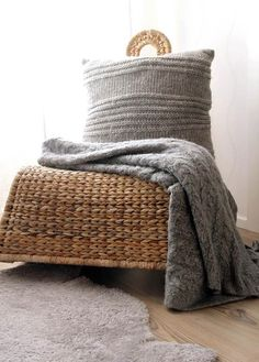 Knitted home accents add lovely texture