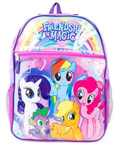 My Little Pony Kids Backpack, Girls or Little Girls Friendship Is Magic Backpack - Kids - Macy's