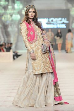 Zara Shahjahan showcased A Folk Tale at PFDC L'Oreal Paris Bridal Week 2014