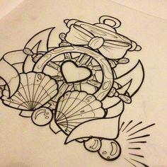•Shells •Anchor •Nautical