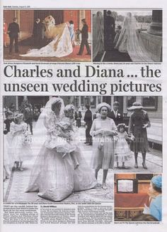 Daily Mail August 11th 2015 - Charles & Diana Unseen Wedding Pics