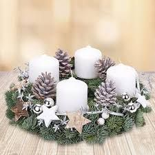 Image result for advent wreath ideas white