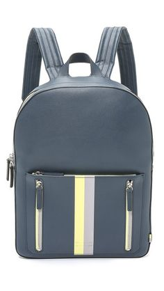 Ben Minkoff Waxy Leather Bondi Backpack with Stripe Striped Backpack b3d5cfdacb989