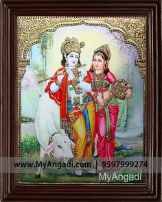Myangadi radha krishna tanjore painting canvas painting inch x 15 inch) Krishna Lila, Krishna Radha, Fabric Painting, Painting Canvas, Vaishno Devi, Tanjore Painting, Outline Drawings, Indian Paintings, Online Painting