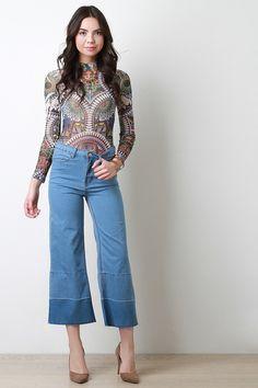 fd6a373748f6 Raw Hems Culotte Jeans Denim Culottes, Trousers, Jeans Pants, Denim Jeans,  Womens