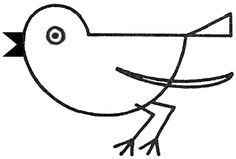 Step finished robins birds1 Drawing a Bird / Robin with Simple Shapes for Preschoolers, Toddlers, Young Kids