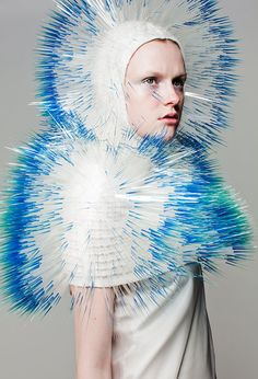 MAIKO TAKEDA ATMOSPHERIC REENTRY (2013) Look 3 #INCROYABLE #ULTRACHIC Bjork Outfit!  #idemtikoPIN