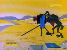 """Wile E. Coyote and Road Runner in """"Hot-Rod and Reel!"""" (1959)"""
